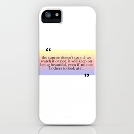Being Beautiful iPhone Case