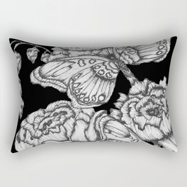 Black Fluttering Ink II Rectangular Pillow
