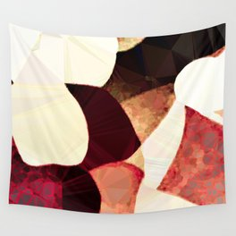 Baroque Burgundy Copper Ivory Maximum Abstract Art Wall Tapestry