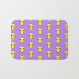 cute easter chicken pattern in yellow and indigo Bath Mat