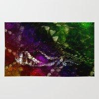 interstellar Area & Throw Rugs featuring Interstellar Snake by Distortion Art