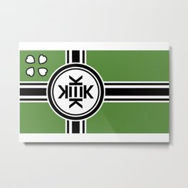 Kekistan flag for kekistani citizens facing normie opression Metal Print