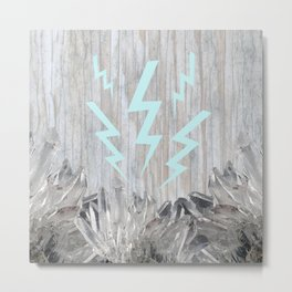Lighting Bolt Crystal Metal Print