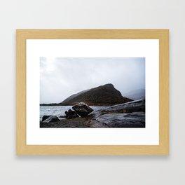 Misty Irish lake Framed Art Print