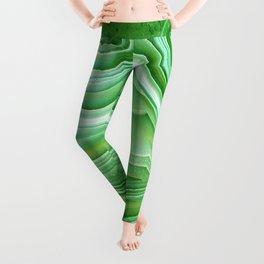 Agate crystal green Leggings