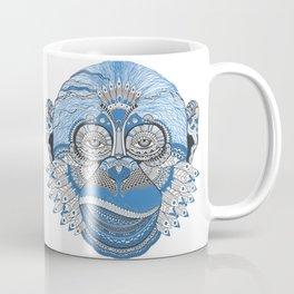 Monkey Head Illustration Coffee Mug