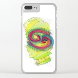 Cancer Flow Clear iPhone Case