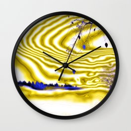 Satin and Lace Wall Clock