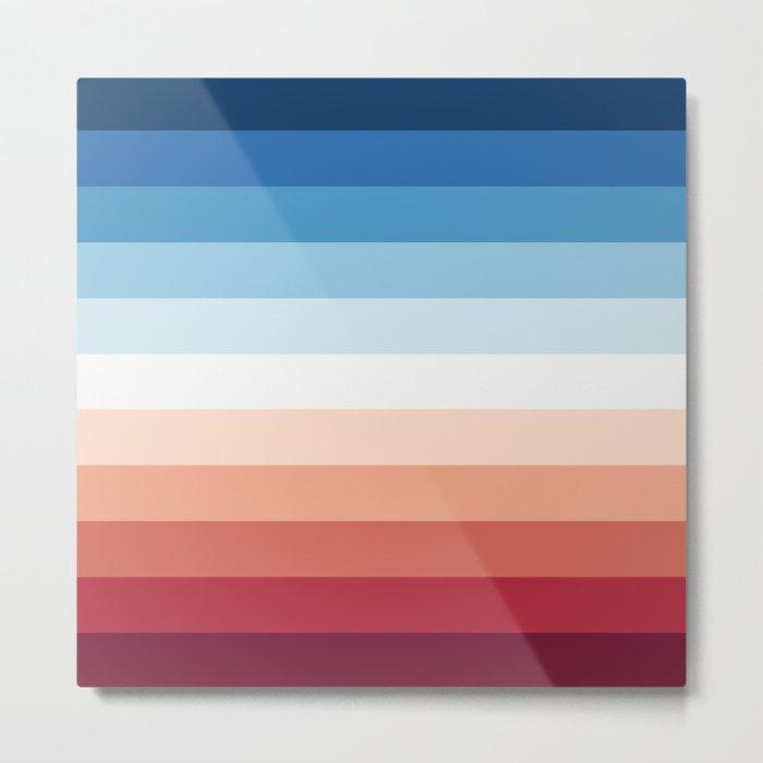 Flag Gradient Metal Print