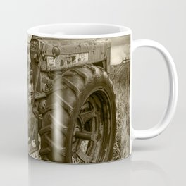Abandoned Old Farmall Tractor in Sepia Tone Coffee Mug