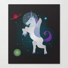Space Pegacorn Canvas Print