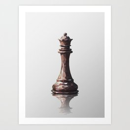 queen low poly Art Print