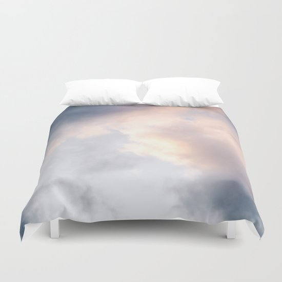 Creamy Clouds Duvet Cover