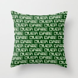 Game Over (i) Throw Pillow