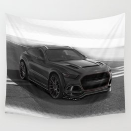 Ford Mustang SUV by Artrace Wall Tapestry