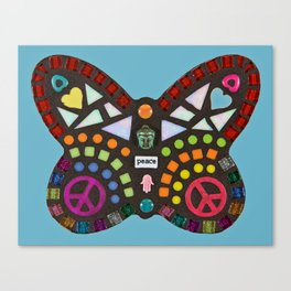 Peace mosaic butterfly Canvas Print