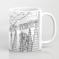 Yeti from the Bestiary Coloring Book Coffee Mug