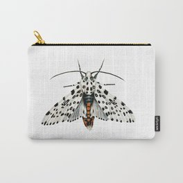 Misty White Leopard Moth Carry-All Pouch