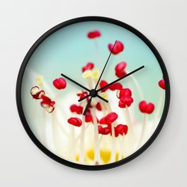 Blooming Candy Red Wall Clock