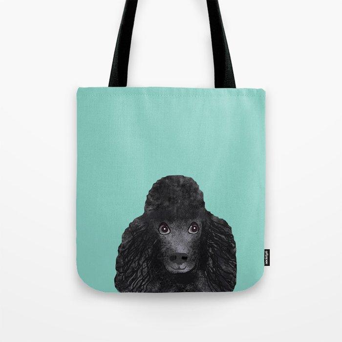 9f810897729d4 Toy Poodle black poodle pet portrait custom dog art dog breeds by pet  friendly Tote Bag