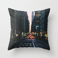 broadway Throw Pillows featuring Broadway by cascam