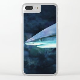 Gray Shark Head (Color) Clear iPhone Case