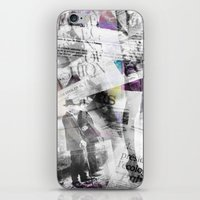 newspaper iPhone & iPod Skins featuring Newspaper collage by Arken25