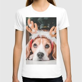 jack russell terrier little cute dog pets dogs christmas new year T-shirt