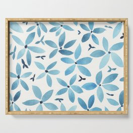 Blue Bouquet Serving Tray