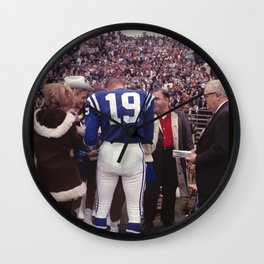 Johnny Unitas : Baltimore Colts : Pre-Game Autograph Signing : 1968 Wall Clock