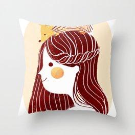 Hedgehog my Friend Throw Pillow