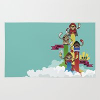 street fighter Area & Throw Rugs featuring Street Fighter 25th Anniversary!!! by Ed Warner