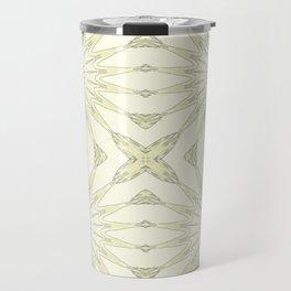 Beige Pinwheel Flowers Travel Mug