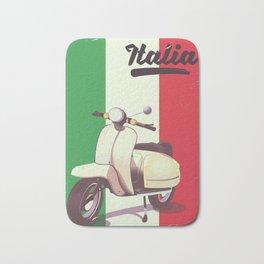 Italia Scooter vintage poster Bath Mat