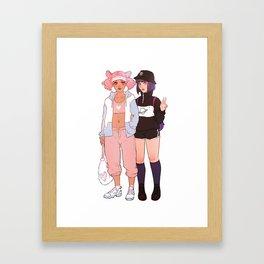 chibiusa & hotaru Framed Art Print