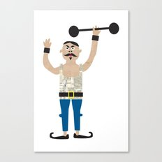 The Strongman from the circus Canvas Print