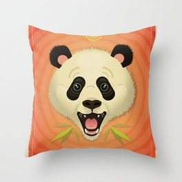 Pandamonium! Throw Pillow