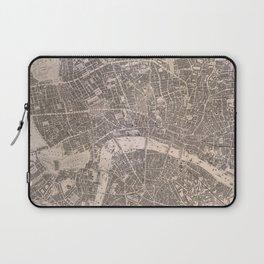 Vintage Map of London England (1845) Laptop Sleeve