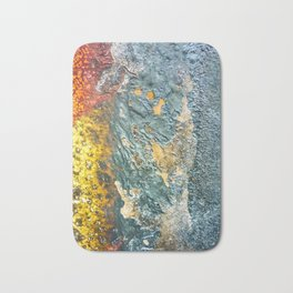 Colorful Abstract Texture Bath Mat