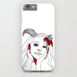 She Ran Into A Wall iPhone Case