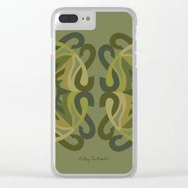 Safe Mandala x2 - Olive Green Clear iPhone Case