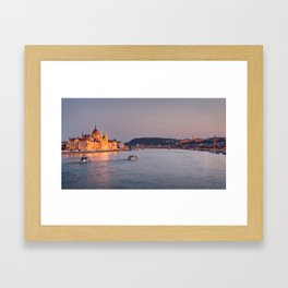 Budapest Parliament. Framed Art Print