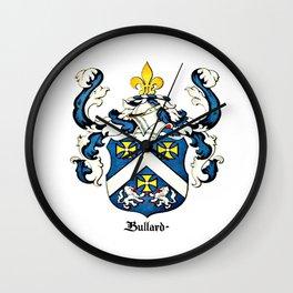 Family Crest - Bullard - Coat of Arms Wall Clock