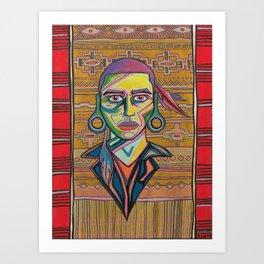 Chief lightsitup Art Print