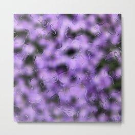 flowers behind wet glass 1 Metal Print