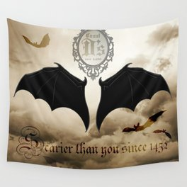 Count D's 'Scarier than you since 1452' & 'Vampire Sunscreen' Wall Tapestry