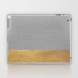 Color Blocked Gold & Grey Laptop & iPad Skin