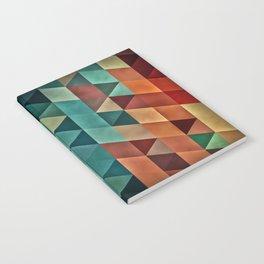 Teal/Orange Triangles Notebook