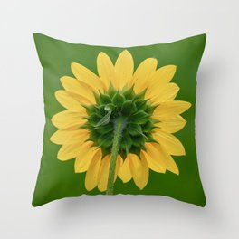 Back of the Sunflower Throw Pillow