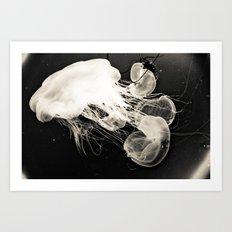 Jellyfish Storm Art Print